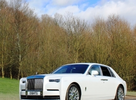 White Rolls Royce Phanotm for wedding hire in London